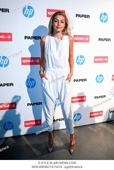 The Paper Magazine New Technology Launch at Center 545 Featuring: Gigi Hadid Where: New York, New York, United States When: 29 Oct 2014 Credit: Kyle Blair/WENN