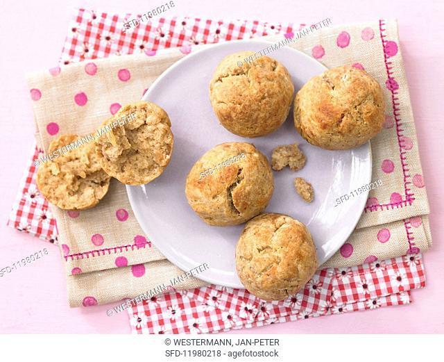 Quark dough rolls with dates