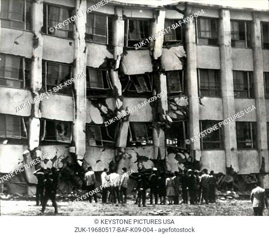 May 17, 1968 - 37 Die In Japan Earthquake: An earthquake in Northern Japan yesterday killed at least 37 people. More than 200 are seriously hurt and 11 people...