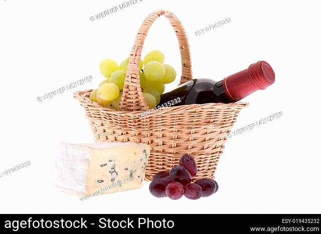 Blauschimmelkäse mit Weintrauben