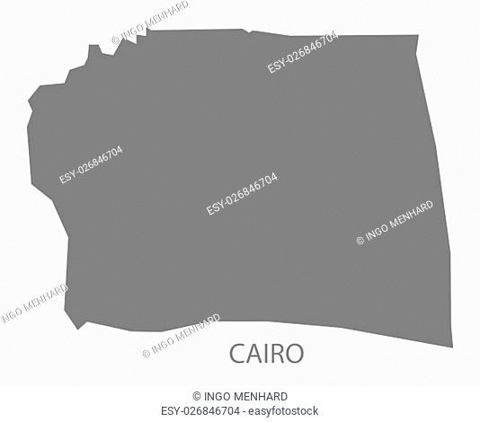 Cairo Egypt Map in grey