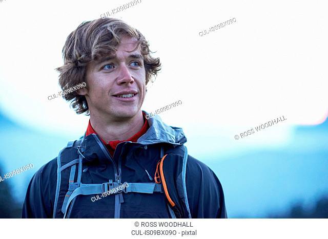 Portrait of male hiker