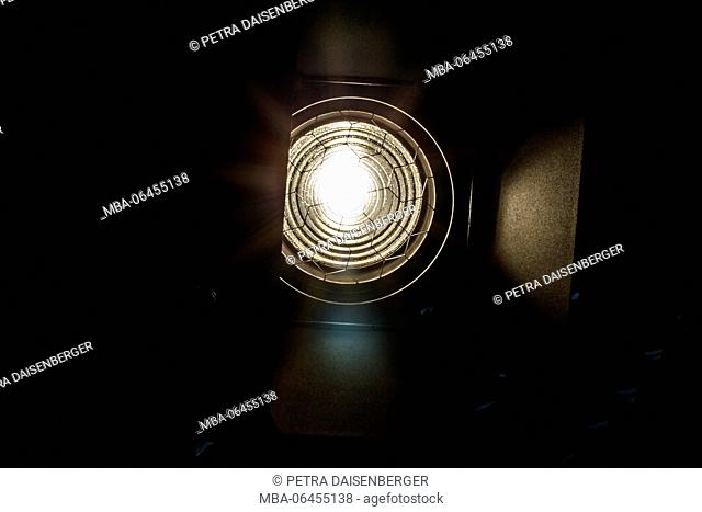 stage lamp on a tripod