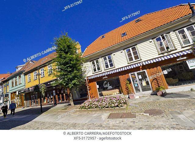 Traditional Architecture, Old Town, Stavanger, Norway, Scandinavia, Europe