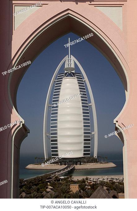 United Arab Emirates, Dubai, district Jumeirah, Jumairah, Hotel Burj Al Arabat Jumeira Beach