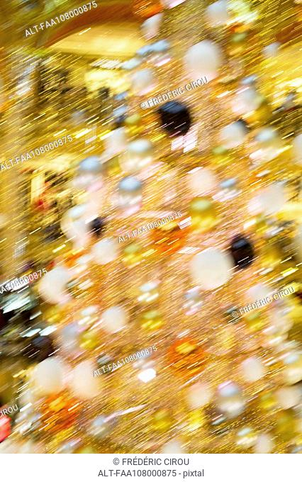 Christmas tree, defocused