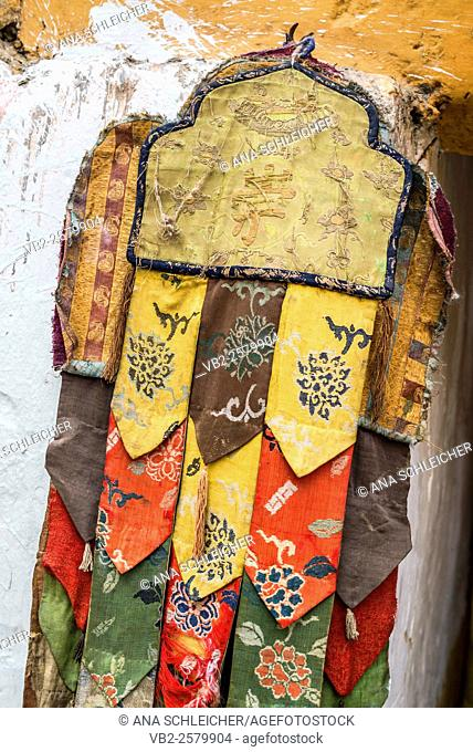 Ceremonial decorations. Nomad summer festival in Tso Moriri lake, Ladakh (India)
