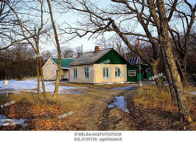 Ranger's Dwelling. Petrova cordon. Lazovsky Nature Reserve, Sikhote-Alin mountain range. Primorsky Krai. Russia, Asia