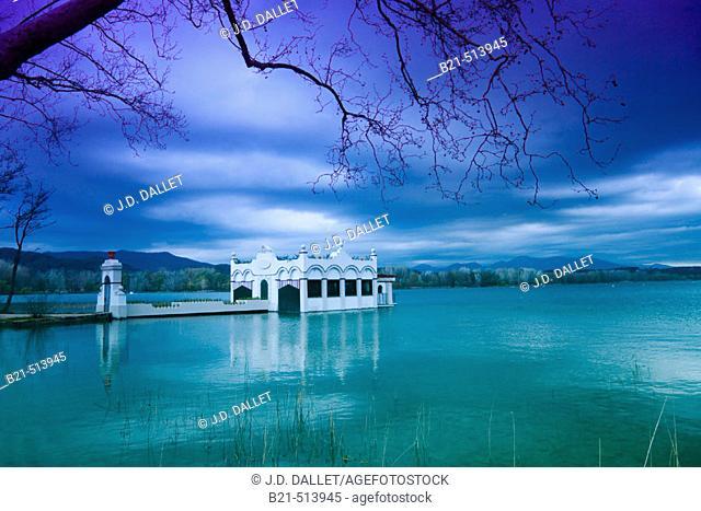Banyoles lake. Girona province, Catalonia, Spain