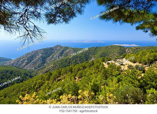 West Coast, Rhodes Island, The Dodecanese Archipelago, Greece, Europe