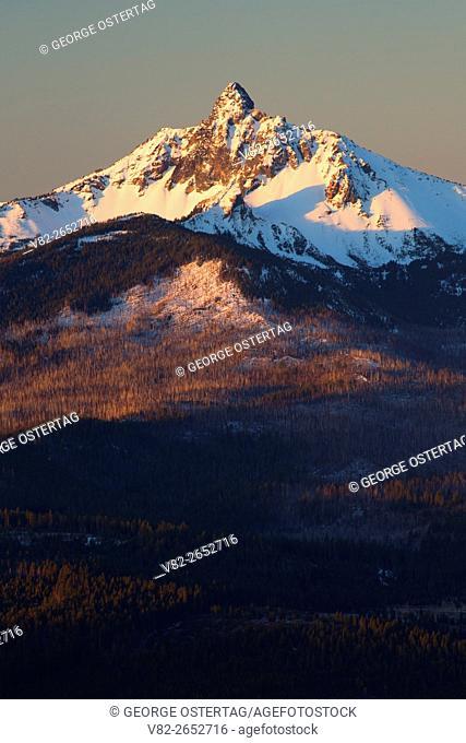 Mt Washington from Black Butte Trail, Deschutes National Forest, Oregon
