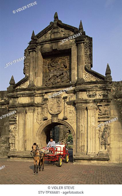 Colonial, District, Fort santiago, Historical, Holiday, Intramuros, Landmark, Manila, Philippines, Asia, Spanish, Tourism, Trave