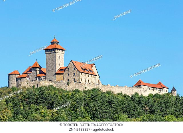 Wachsenburg Castle as a Part of the Drei-Gleichen Ensemble in Thuringia, Germany