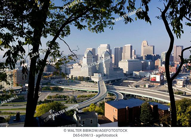 Downtown View from Mt. Adams Neighborhood / Morning. Cincinnati. Ohio. USA