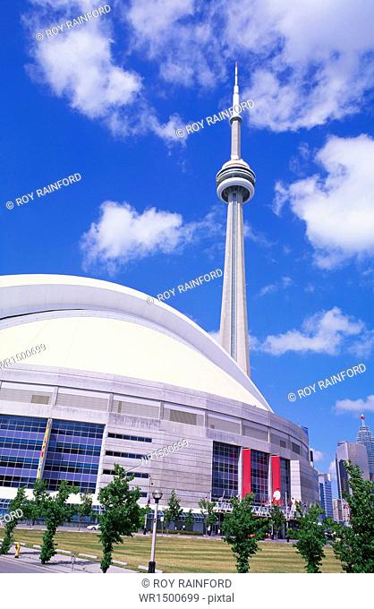 CN Tower and Skydome, Toronto, Canada