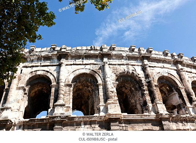 Detail of Arena of Nimes, Nimes, Languedoc-Roussillon, France