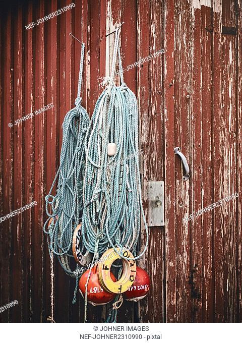 Fishing net and buoys