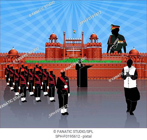 Independence day celebration India, illustration