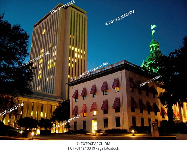 Tallahassee, FL, Florida, The Old State Capitol ca.1902, Florida State Capitol, State House a 22-story tower