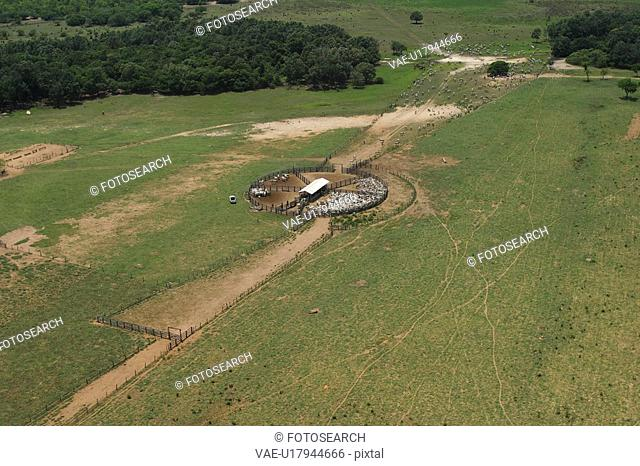 agriculture, cluster, aerial view