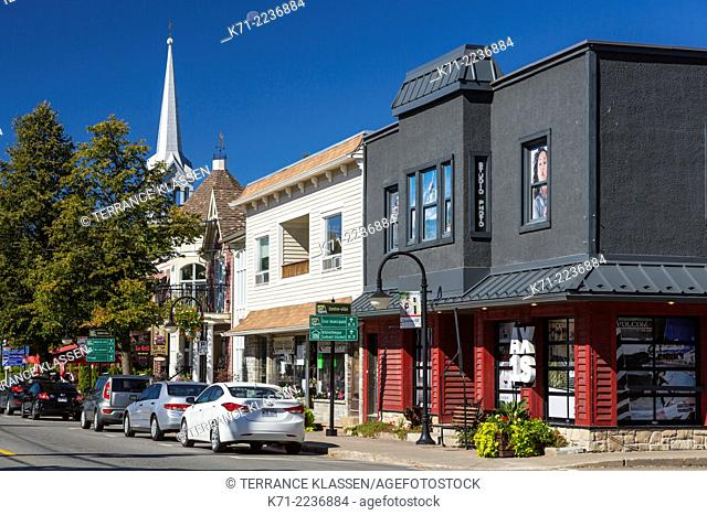 Shops and stores in the village of Mont-Tremblant, Quebec, Canada