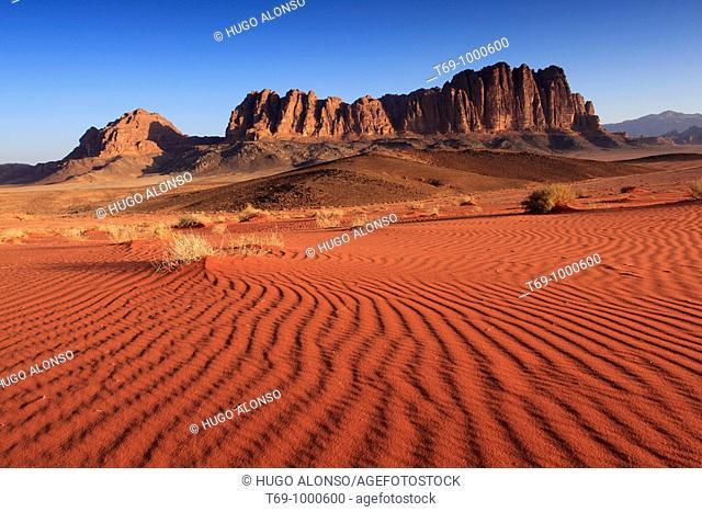 Mount Rum in Wadi Rum (Jordan)