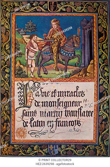 'La vie et miracles de monseigneur saint Martin', 1496 (1947). Artist: Unknown
