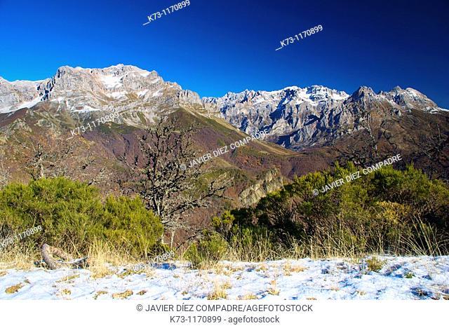 Central and Western Massifs. Picos de Europa National Park. Valdeon Valley. Leon province. Castilla y Leon. Spain