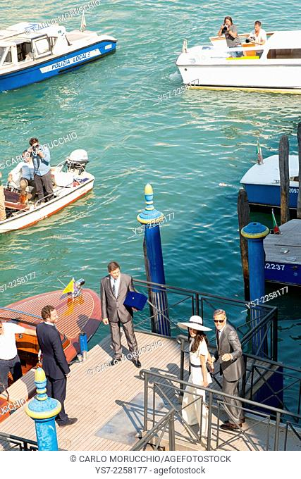 George Clooney and Amal Alamuddin wedding at Venice town hall, Venice, Italy, Europe