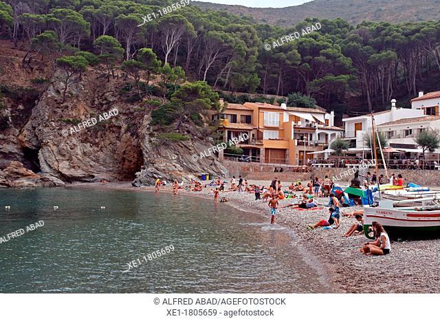 Sa Tuna beach, Costa Brava, Begur, Catalonia, Spain