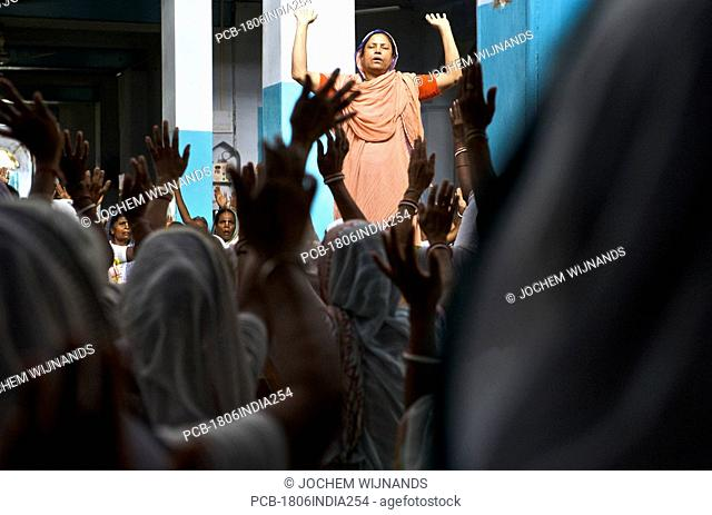 India, Vrindavan, the Sri Bagwan Bhajan Ashram for Widows