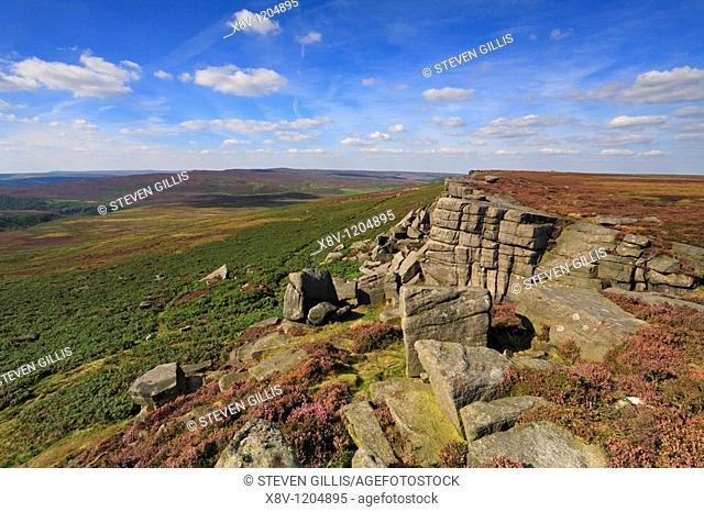 Crow Chin, Stanage Edge, Peak District National Park, Derbyshire, England, UK