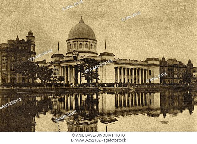 Vintage photo of general post office, kolkata, west bengal, india, asia