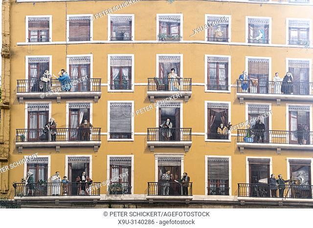 Fassadenkunstwerk La fresque des Lyonnais, Lyon, Auvergne-Rhone-Alpes, Frankreich | Mural La fresque des Lyonnais, Lyon, Auvergne-Rhone-Alpes, France