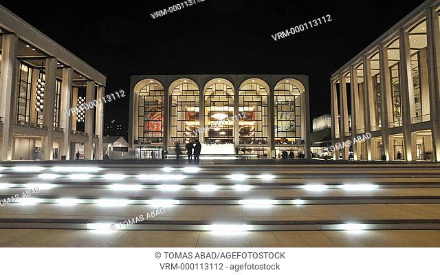 The renovated Lincoln Center Performing Arts center, Broadway, Manhattan, New York City, USA