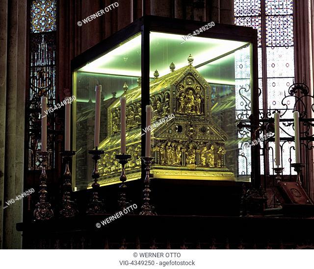 D-Koeln, Rhein, Nordrhein-Westfalen, Dom, Dreikoenigenschrein, D-Cologne, Rhine, North Rhine-Westphalia, cathedral, Shrine of the Magi, UNESCO, Welterbe