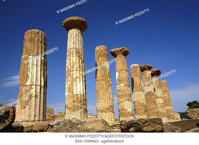 Temple of Hercules, Valley of the Temples, Agrigento, Italy