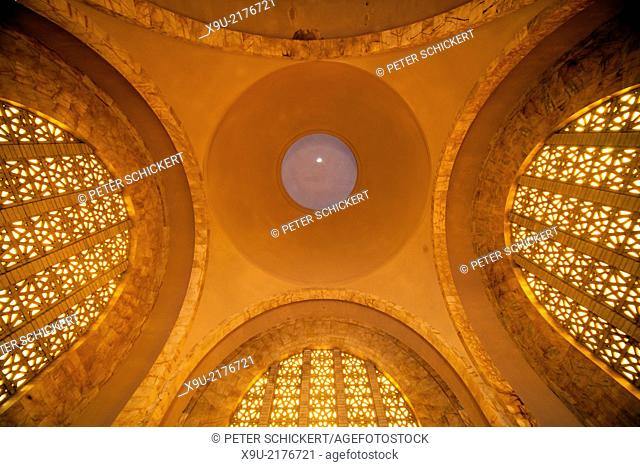 sky dome inside the Voortrekker Monument in Pretoria, Gauteng, South Africa, Africa