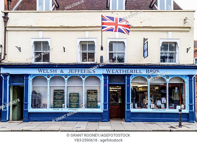 Welsh & Jefferies & Weatherill Bros Tailors, High Street, Eton, Berkshire, `uk