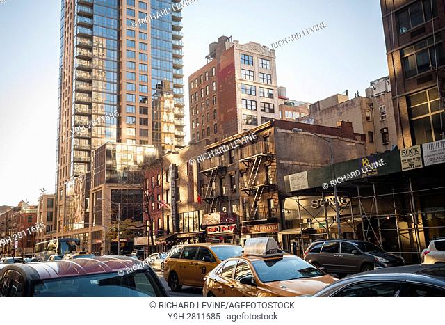 Undeveloped real estate along the west side of Sixth Avenue in the Chelsea neighborhood in New York