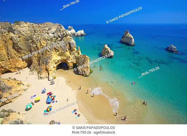 Beach at Lagos, Algarve, Portugal, Europe