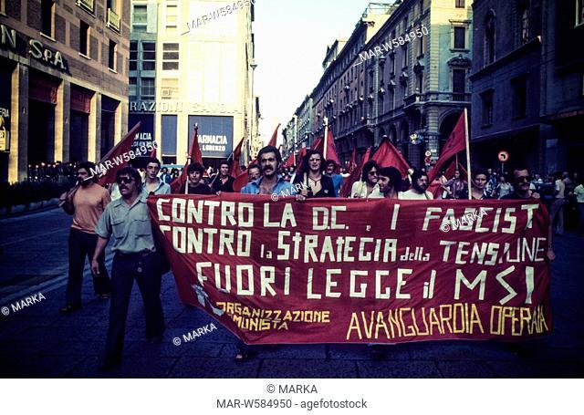 worker demonstration, 1968
