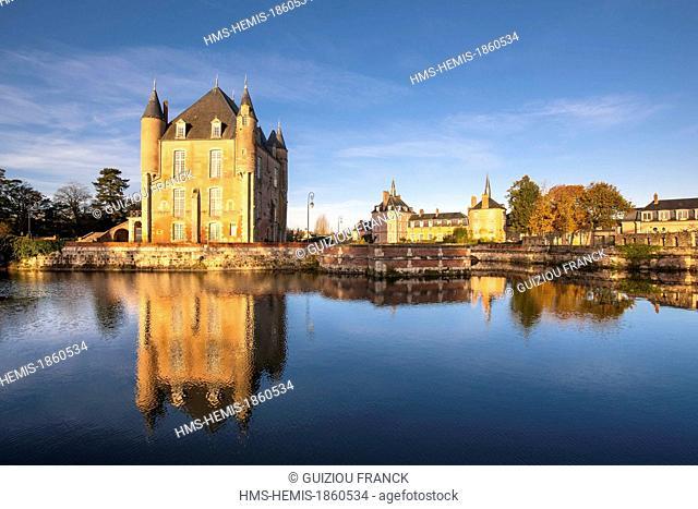 France, Loiret, Bellegarde, the 14th century Bellegarde castle also called castle des l'Hospital