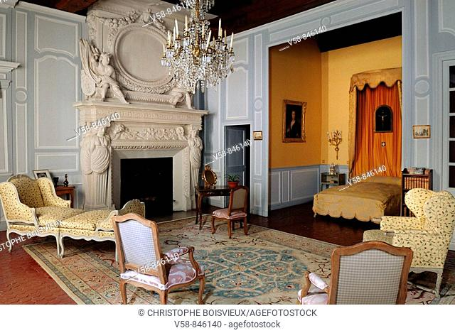 Chambre d'Honneur, Castle of Tanlay, Yonne, France