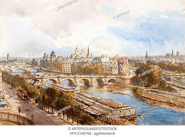 Fulleylove John - View of Paris from the Seine