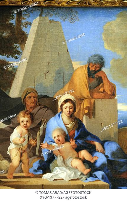 Detail: The Holy Family, ca  1650, Sébastien Bourdon, Oil on canvas 21 7/8 x 27 in , 55 5 x 68 6 cm, Metropolitan Museum of Art, New York City