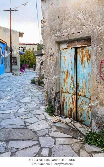 View of street in old town, Lefkara, Cyprus