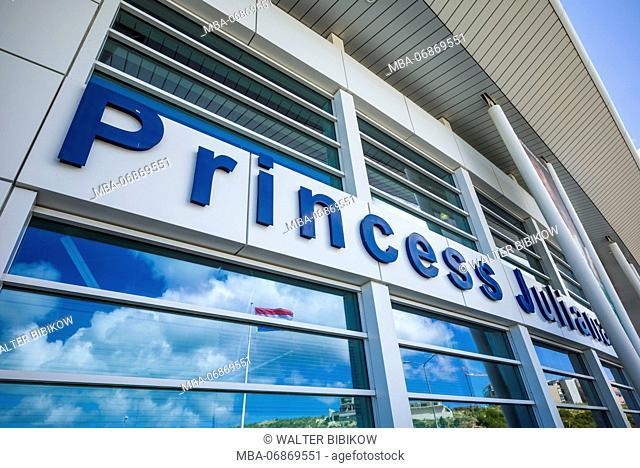 Netherlands, Sint Maarten, Maho Bay, Princess Juliana Airport Terminal, exterior