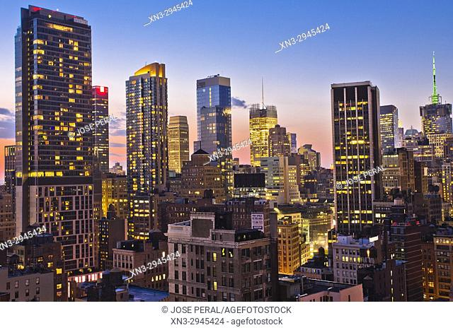 Midtown skyline, Manhattan, New York City, New York, USA
