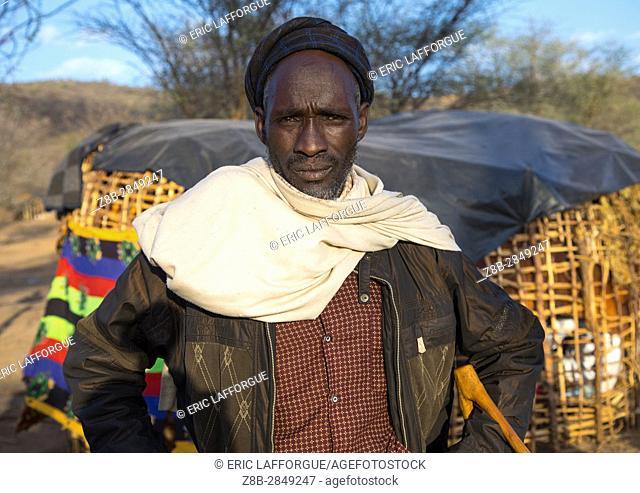 Borana tribe man during the Gada system ceremony, Oromia, Yabelo, Ethiopia